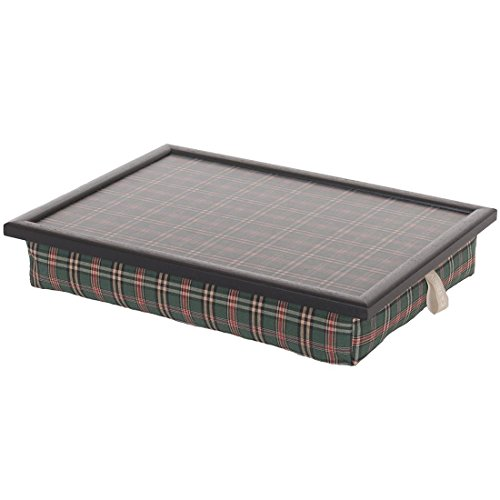 Andrew´s Knietablett Laptray mit Kissen Tablett Check Green