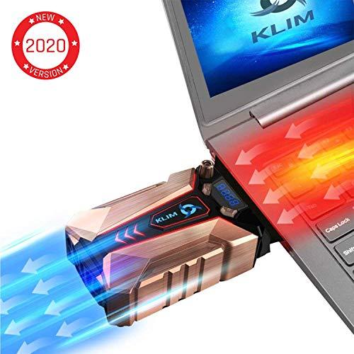 KLIM Cool + Notebook-Kühler aus Metall - Der Stärkste - Vakuum USB für Sofortige Kühlung - Cooler Ständer Kühlpad Gegen die Überhitzung [ Neue 2019 Version ]