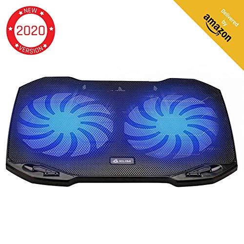 KLIM Pro - Der Kühler für Profis - Laptop PC Support - Einfach zu transportieren - 10' bis 15,6' - Zusätzlicher USB-Port [ Neue 2020 Version ]