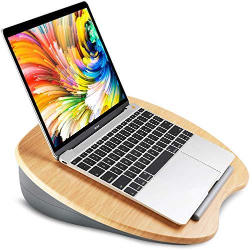 HUANUO Laptopkissen für Bett mit Kabelloch & Anti-Rutsch Streifen für max. 17 Zoll Notebook, Tablet