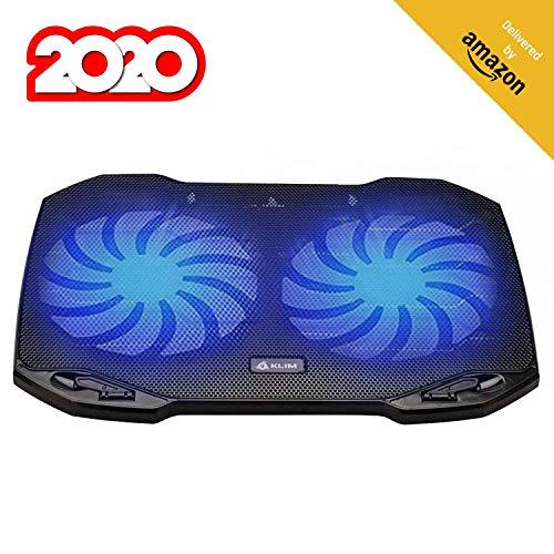 KLIM Pro - Der Kühler für Profis - Laptop PC Support - Einfach zu transportieren - 10' bis 15,6' - Zusätzlicher USB-Port - Neue 2020 Version - Schwarz