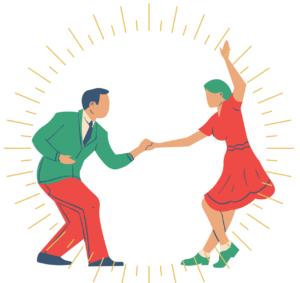 gesund tanzend